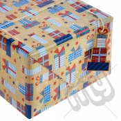 ' Just For You ' Wrapping Paper - 2 Sheets & 2 Tags