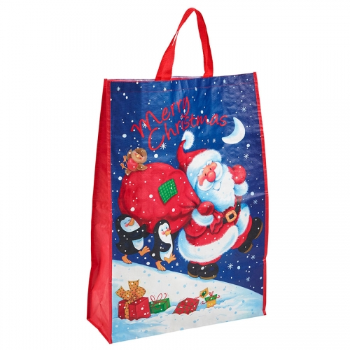 Cartoon Santa Clause Delivering Christmas Presents Bag for Life - Jumbo