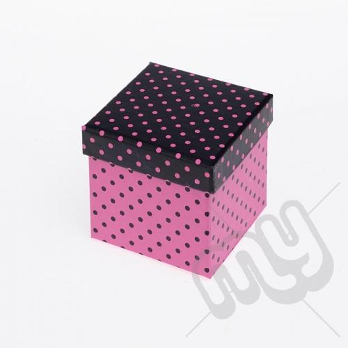Pink & Black Luxury Polka Dot Gift Box - Small