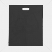 Black Patch Handle Fashion Carrier Bags 38x46+8cm x 100pcs