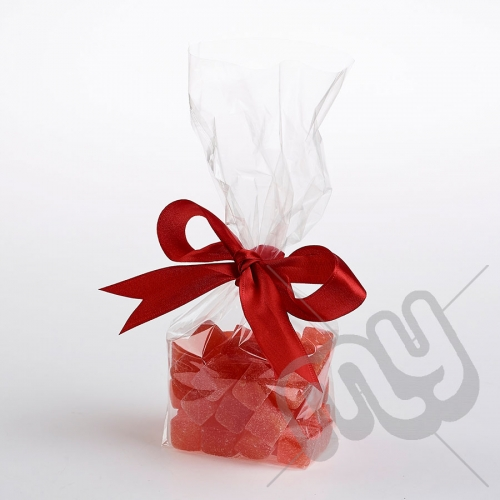 Clear Block Bottom Cellophane Bags - 145x255mm x 100pcs
