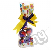 Funky Chicken Easter Printed Block Bottom Bags - 100mmx220mm x 50pcs