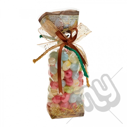 Rustic Eggs in Barn and Hay Stack Easter Printed Block Bottom Bags - 100mmx220mm x 10pcs