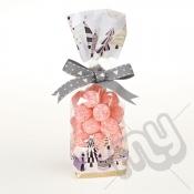 Christmas Tree Printed Block Bottom Bags - 100mmx220mm x 100pcs
