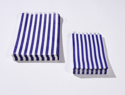 5 x 7 Blue Candy Stripe Paper Bags x 1000pcs