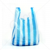 Candy Striped Plastic Carrier Bag 10x15x18 9 Micron (Light Strength) x 2000pcs