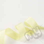 Yellow Gingham Ribbon 15mm x 20 metres