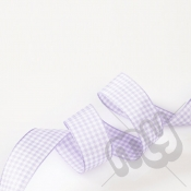 Lilac Gingham Ribbon 10mm x 20 metres