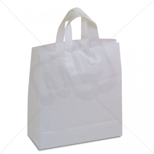 White Flexi-Loop SOS Carrier Bags - SMALL x 250pcs