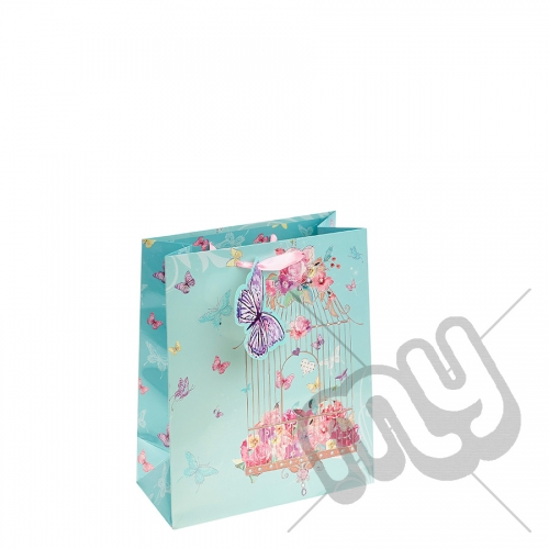 Summery Bird Cage Gift Bag - Medium x 1pc