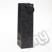 Luxury Black Glitter Paper Gift Bag - Bottle x 1pc