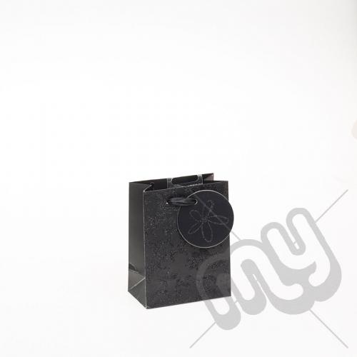 Luxury Black Glitter Paper Gift Bag - Small x 1pc