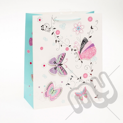 Butterfly Design Luxury Gift Bag - Large x 1pc