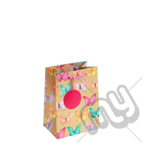 Funky Butterfly Printed Gift Bag - Medium x 1pc