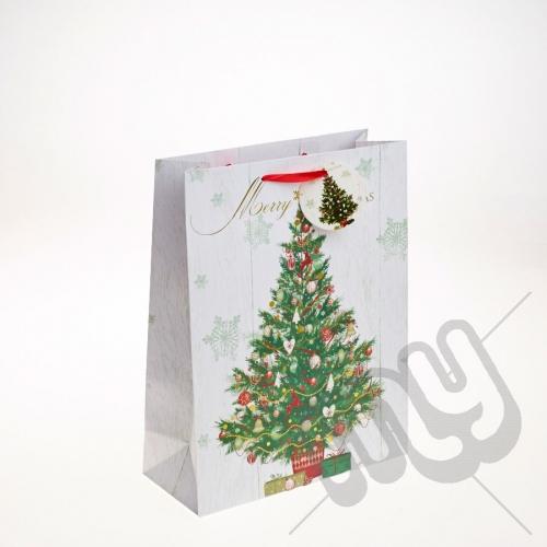 Decorated Christmas Tree Christmas Gift Bag - Large x 1pc