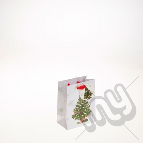 Decorated Christmas Tree Christmas Gift Bag - Small x 1pc