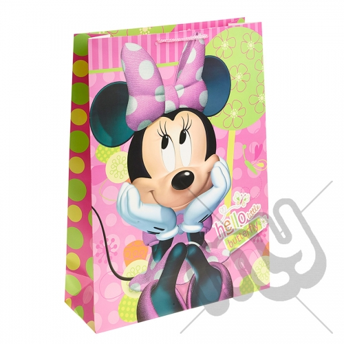 Hello Little Butterfly Minnie Mouse Gift Bag - Extra Large x 1pc