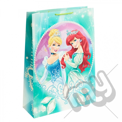 Princess Ariel & Princess Cinderella Gift Bag - Extra Large x 1pc