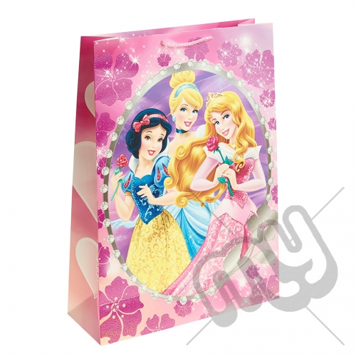 Sleeping Beauty, Snow White & Cinderella Gift Bag - Extra Large x 1pc