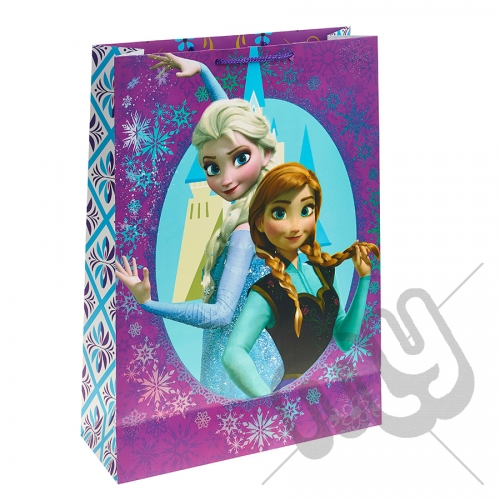 Queen Elsa & Princess Anna with their Castle Gift Bag - Extra Large x 1pc