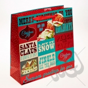 Merry Christmas & Happy Holidays Christmas Gift Bag - Large x 1pc