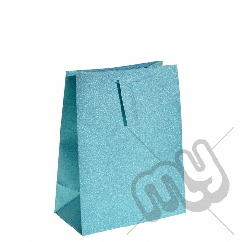 Turquoise Blue Glitter Gift Bag - Large x 1pc
