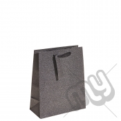 Charcoal Black Glitter Gift Bag - Medium x 1pc