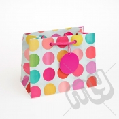 Multicolour Spotted Luxury Gift Bag - Medium x 1pc