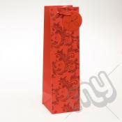 Luxury Red Glitter Paper Gift Bag - Bottle x 1pc