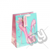 Pretty Shoes Gift Bag with Glitter Detail - Large x 1pc