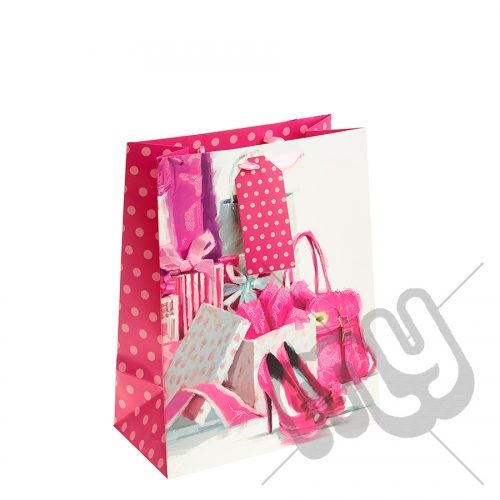 Presents, Presents & More Presents Gift Bag with Glitter Detail - Large x 1pc