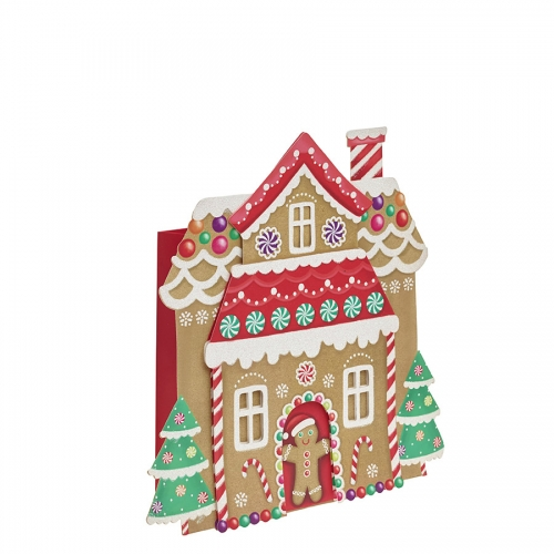 Ginger Bread Cut Out Christmas Gift Bag – Medium x 1pc