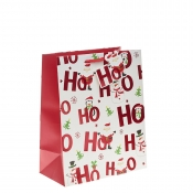 Ho Ho Ho Merry Christmas Gift Bag – Large x 1pc