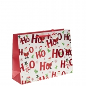 Ho Ho Ho Merry Christmas Gift Bag – Extra Large Shopper x 1pc