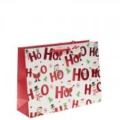 Ho Ho Ho Merry Christmas Gift Bag – Extra Large Shopper x 1pc