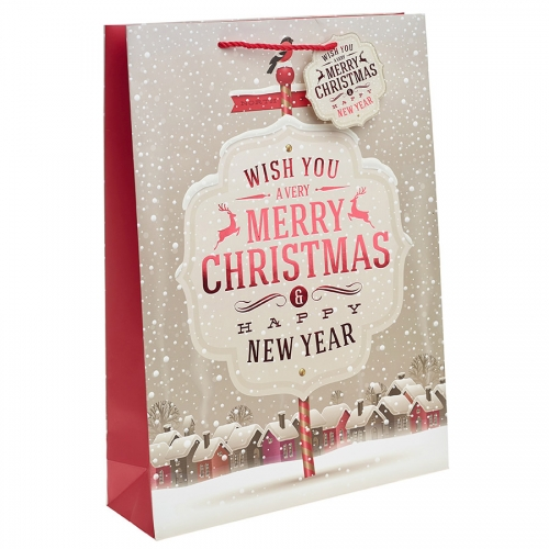 We Wish You a Merry Christmas Gift Bag – Extra Large x 1pc