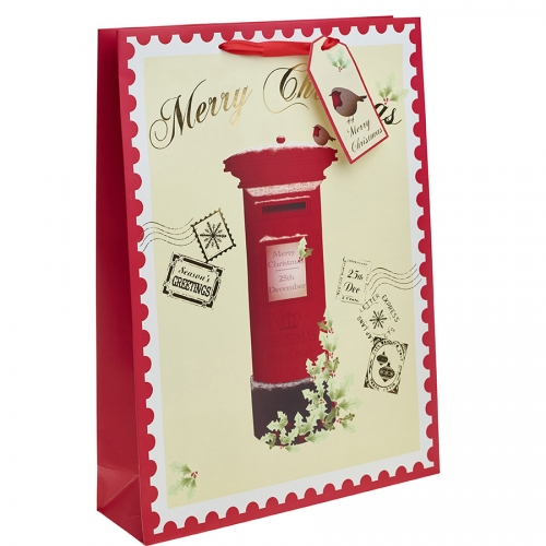 Red Post Box Christmas Gift Bag – Extra Large x 1pc