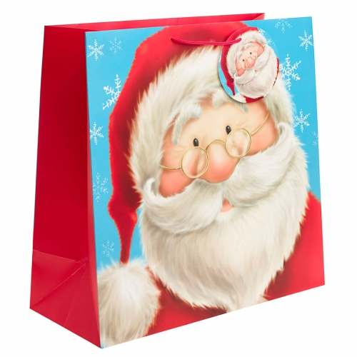 Cute Santa Clause Christmas Gift Bag - Jumbo Square