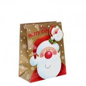 Happy Santa wishes you a Merry Christmas Gift Bag – Large x 1pc