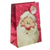 Red Metallic Santa Clause Christmas Gift Bag – Extra Large x 1pc