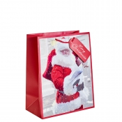 Santa Delivering Presents Christmas Gift Bag – Large x 1pc