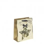 Golden Star Christmas Gift Bag – Medium x 1pc