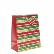 Season's Greetings Christmas Gift Bag – Large x 1pc