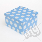 Blue Polka Dot Glitter Luxury Gift Box - SIZE 3