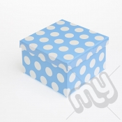 Blue Polka Dot Glitter Luxury Gift Box - SIZE 4