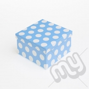 Blue Polka Dot Luxury Glitter Gift Box - SIZE 5