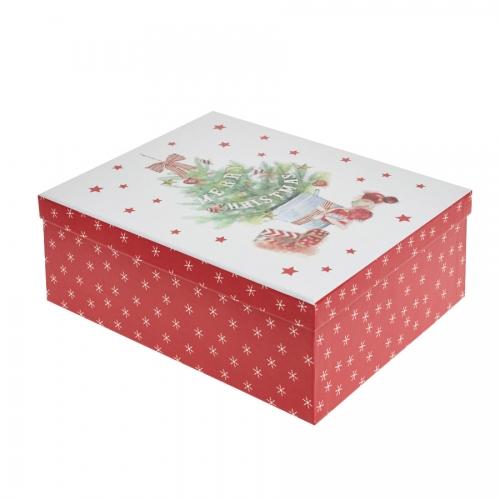 Decorated Christmas Tree Merry Christmas Gift Box – Medium