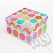 Multicoloured Spotted Luxury Gift Box - SIZE 3