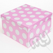 Pink Polka Dot Glitter Luxury Gift Box - SIZE 1