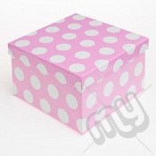 Pink Polka Dot Glitter Luxury Gift Box - SIZE 2